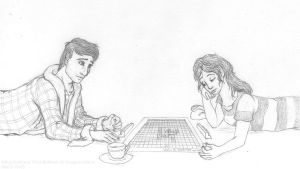 Arthur and Trillian - Scrabble by Akril15