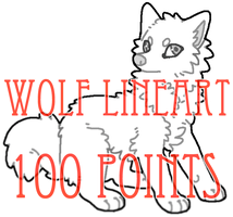 wolf lineart - 100 points by levitzky