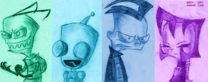 Invader ZIM by SB99stuff