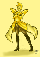 Yellow diamond by malino555