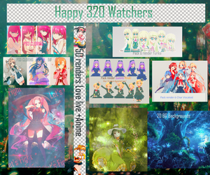 Happy 320 Watchers by Shino-Akai