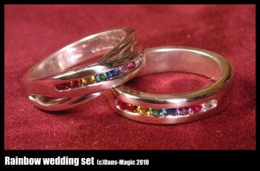 Rainbow wedding set by EagleWingGallery