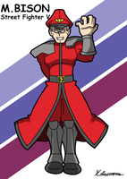 M.Bison Street Fighter V by ObsidianWolf7