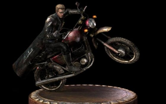 Albert wesker in motorcycle.. by Annettebiirkinn