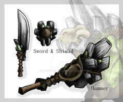 Gulagrath Weapons by CaimRyo