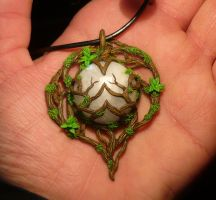 Heart of the Moonkin - handsculpted Pendant by Ganjamira