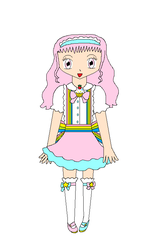 Confectionist Sugar (Confection Cuties! My OC) by CurePinkHeart