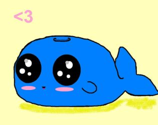 cute whale chibi thing by livelaughlove815