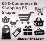 E-Commerce Vector Silhouettes by Shapes4FREE