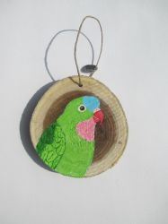 Princess of Wales Parakeet Ornament by MadalynC