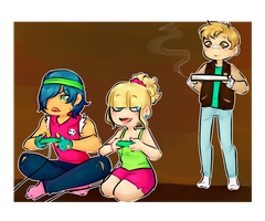 [Collab] Pizza Party by millennialSpectrum