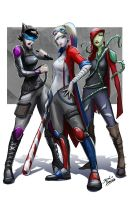 The Gotham city Sirens by glencanlas