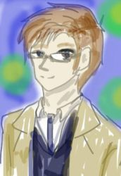 10th Doctor 15 minute doodle by dango117