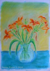 Lily still life by PilgrimMaiden
