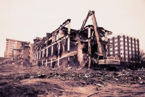 Demolition of the Press Building by KBeezie
