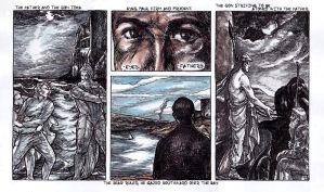 Ulysses Pages - No 9 Eyes-Fathers by besnglist