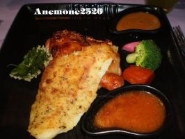 Combination of Fish Fillet and Grilled Chicken by anemoneploy