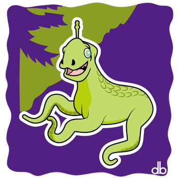 Crazy Critter of Bald Mountain Sticker by Gr8Gonzo