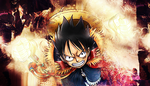 Luffy-Signature-TheBlack by OneBill