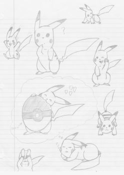 pika sketches by dragzata