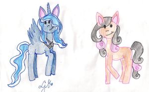 Luna and Lavende in my chibi version by Lunajula