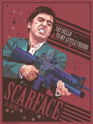 Scarface (1983 film) Alternative movie poster by AdamKhabibi