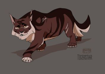 Warriors Character Design - Tigerstar by eighthSun