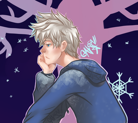 RoTG: That Annoying Winter Kid Close Up by lilacalosa
