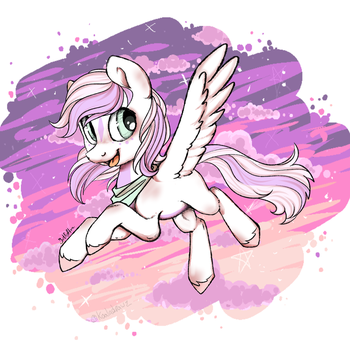 Feather hooves flight by zombiegoddess666