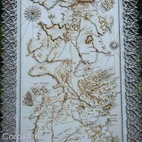 Game Of Thrones Map,Westeros Map by CoraxArt