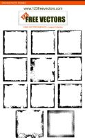 Grunge Photo Frames by 123freevectors