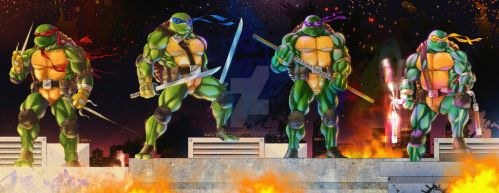 Commission Art: TMNT by paneseeker