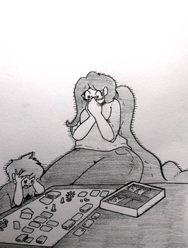 Inktober - The Most Dangerous Game by chibiBiscuit