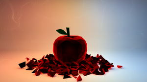 Lowpoly apple by mixlou