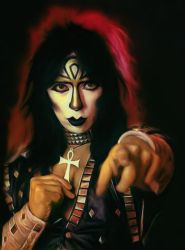 Vinnie Vincent of KISS by petnick