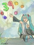 Watercolor Style? - Happy B-Day Miku! by K-armen
