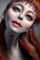 about one girl with red lips by GalaGankina
