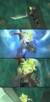 Cloud leaps into Dissidia by RoydGriffin