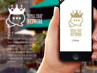 Royal Chat Network App Design by atifarshad