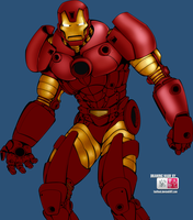 :WIP: IronMan Colouring by DoooM