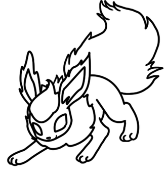 Flareon coloring page by Bellatrixie-White