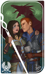 Dragon Age - Alistair and Edha by Eyoha