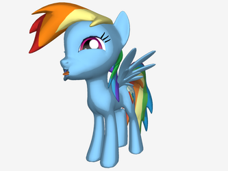 Failed attempted at the Dashie Squishy Face by AdmiralPopeye