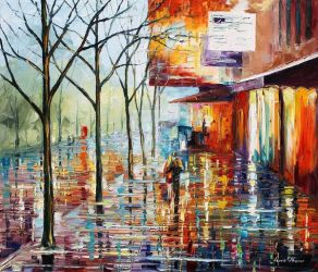 Street in Paris by Leonid Afremov by Leonidafremov