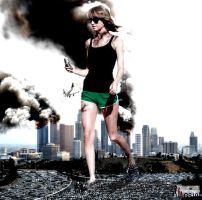 Giantess Taylor - Out For A Walk In LA by GiantessStudios101