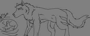 Free little wolf base read credit MS paint doodler by WonderlandTrades