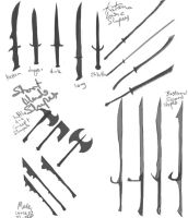 weapon concepts by slaine69