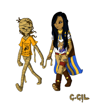 Mummy Girl and her girlfriend by cecile-appert