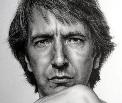Alan Rickman Close Up by LochaSnejpa