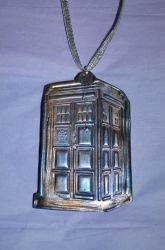 Polymer Clay Tardis - Stamp and Pearl Ex Test (1B) by LostGryphin